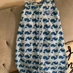 Fleece Whale Print Sleep Sack